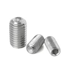 цена на Hex Set Grub Metric Thread Machine Headless Screws Hexagon Socket Bolt 304 Stainless Steel M1.6 M2 M2.5 M3