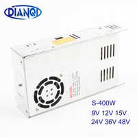 400W 36V 11A Single Output Switching power supply High Quality AC to DC 5V 9V 12V 15V 24V 48V Power Supply S-400-36