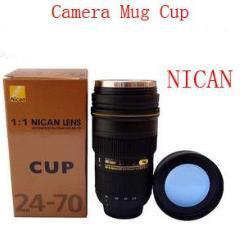 Freeshipping Camera lens mug cup telescopic coffee Mug (NICAN) logo Wholesale