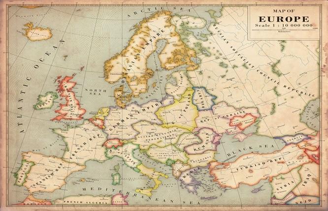 Online Kaufen Gro 223 Handel Vintage Europa Karte Aus China