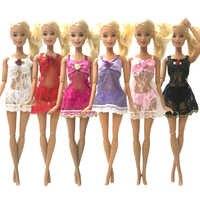 NK 6 Set muñeca pijamas coloridos ropa interior Lencería sujetador encaje vestido ropa para muñeca Barbie accesorios regalo para niños DZ