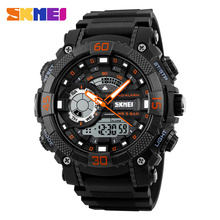 SKMEI 1228 Men Sport Watch LED Digital Wristwatches Dual Display Watches Chronograph Alarm Waterproof Relogio Masculino