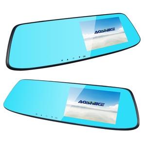 Image 2 - AOSHIKE 4,7 pulgadas grabador de conducción espejo retrovisor para coche grabador Full HD 1080P doble pantalla de grabación Camara de vehiculo dvr
