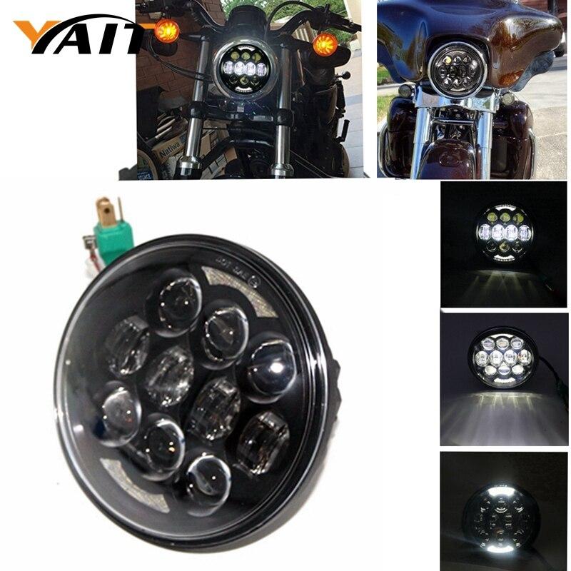 5-3/4 LED Daymaker Headlamp 80W LED Headlight for Harley Davidson 883 Night Train Dyna Heritage Springer