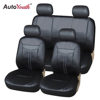AUTOYOUTH Luxury Waterproof PU Leather Car Seat Cover Full Set Universal Fit Most cars for h4 led 2 din passat b5 mazda 3 jdm image