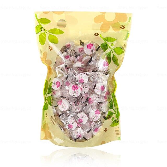 100 pz/borsa compressa maschera per il viso fai da te cotone maschera sonore in candy pack