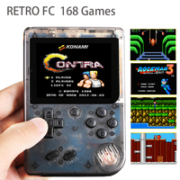 Classic Childhood Retro Handheld Game Console Portable Video Games Console Color LCD Built in 168 TV Game Player Gift for kids