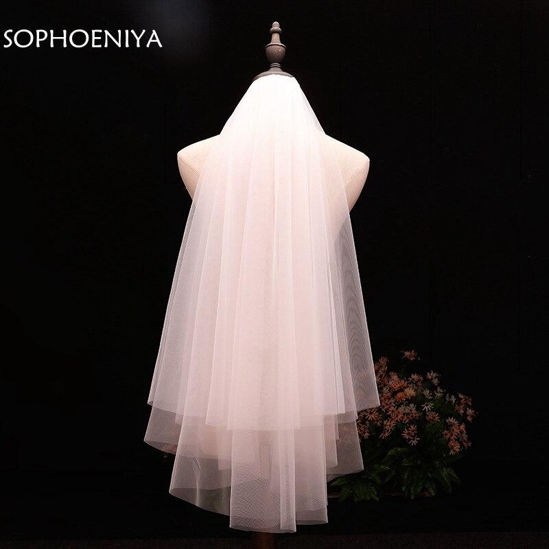 In Stock Voile Short Veil Cheap Wedding Accessories Welon Veu De Noiva Bridal Veil 2019 Sluier Bridal Accessories Brautschleier