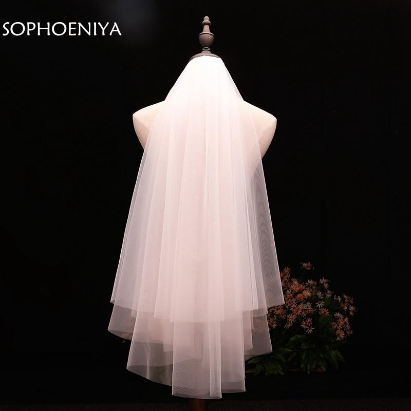 In Stock Voile Short Veil Cheap Wedding Accessories Welon Veu De Noiva Bridal Veil 2020 Sluier Bridal Accessories Brautschleier