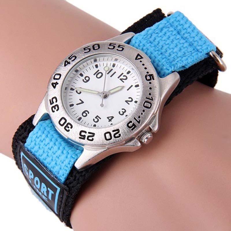 New Fashion Children's Sport Wrist Watch Luminous Quartz Nylon Watch 3D Cartoon Analog Watch Relogio