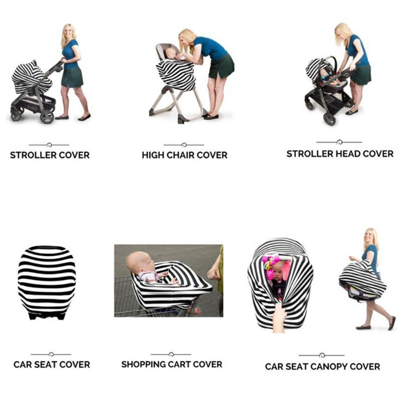 Mother & Kids Strollers Accessories Cotton Nursing Covers Baby Car Seat Cover Feather Mum Stretchy Breastfeeding Cover Nursing Scarf Blanket Cloth Anti-sun Sunshade