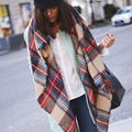2017 Hot Womens Scarfs Fashionable Blanket Scarf Winter Warm Pashmina Tartan Scarf Plaid Shawl Thickening Square Bufandas Mujer