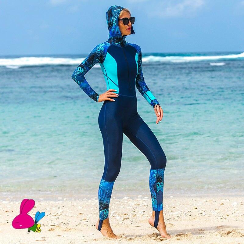 Freeshippin women Wetsuits One-Piece Diving Suit Long Sleeve Swimwear Sunscreen Spearfishing Surf Wear Female Wet suit Triathlon
