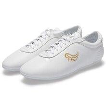 white genuine leather tai chi shoes traditional wushu shoes BUY wushu shoes