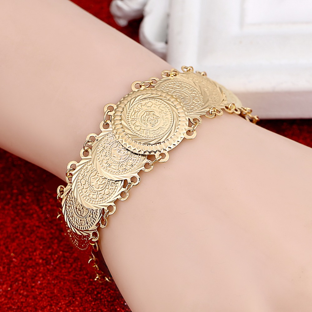 New Arrival Money Coin Bracelet Islamic Muslim Arab Coins Bracelet Women Middle Eastern Jewelry ...