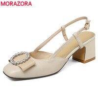 Morazora大きなサイズ34-43ユーロファッションスリングバック女