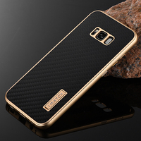 For Samsung Galaxy S8 Plus Case Luxury Metal Aluminum Bumper Cover Carbon Fiber Full Protection Phone