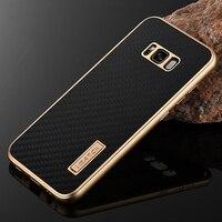 For Samsung Galaxy S8 Plus Case Luxury Metal Aluminum Bumper Cover Carbon Fiber Full Protection Phone