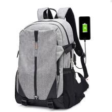 Teen Canvas Men Backpack Cool 2019 High School Bags for Teenage Book Bag Boys girls USB Schoolbag Male Backpack Mochila escolar