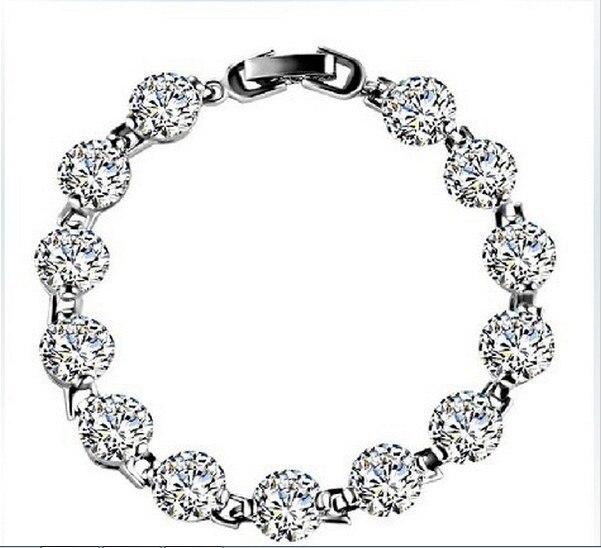 Luxury Round Diamond 18K White Gold Cover Bracelets Bangles for Women Excellent Quality Last Forever