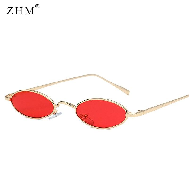2018 kis ovális napszemüveg férfi férfi retro fém keret sárga piros ... d4225937fb