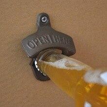 Vintage hierro fundido montado en la pared abrebotellas cerveza cocina accesorios drop'shipping