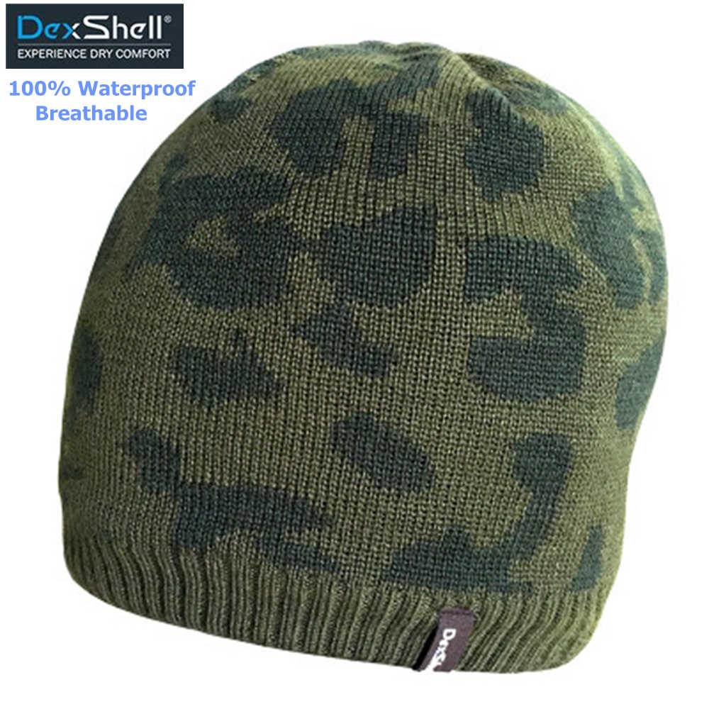Men Winter Snow Camouflage Hats Waterproof Breathable Thermal Hiking Hats  Male Outdoor Sports Knitted Polar Fleece 24e3cf2a558