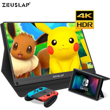 Monitor portátil para juegos de PS4 pantalla IPS de 15,6 pulgadas 4K + HDR 72% NTSC 178 Dgree, contraste TYPE C HDMI Switch