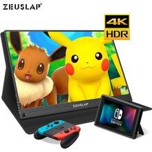 Écran IPS Portable de 15.6 pouces 4K + HDR 72% NTSC 178, Angle de vue Dgree, contraste 1000:1, commutateur HDMI TYPE C, pour PS4, moniteur de jeux