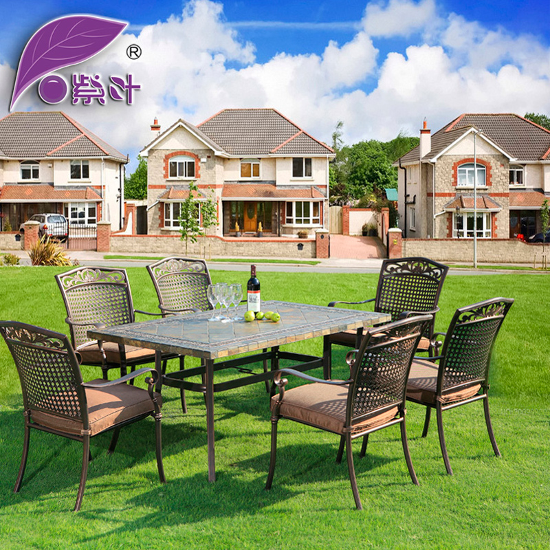 European Style Wrought Iron Outdoor Furniture Balcony