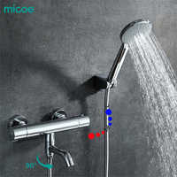 Micoe 2018 new Thermostatic Shower Faucet Bathroom Faucet Shower Set Waterfall Bathtub Shower Wall Faucet