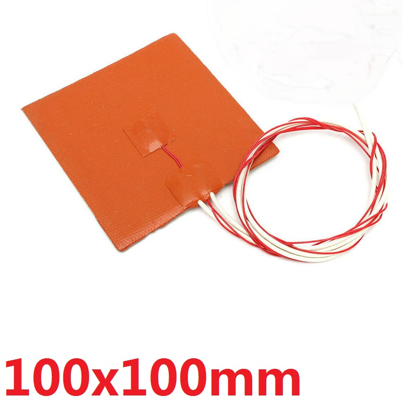 12V 12W Silicone Rubber Heater Pad100*120mm Heating Mat Tool For Fuel//Water Tank