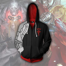 Fullmetal Alchemist Costume Edward Elric Cosplay Anime Hoodie Sweatshirts Men Woman Clothing Zipper Jackets
