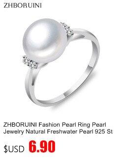 Комплект украшений zhboruini ожерелье и серьги из натурального