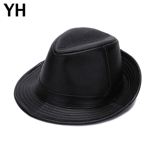 6c9c043a1c7a3 2018 Hot Pin Men Real Genuine Cowhide Leather Hats Fashion New Style Real  Natural Leather Cap Sale Men Real Cowhide Leather Caps