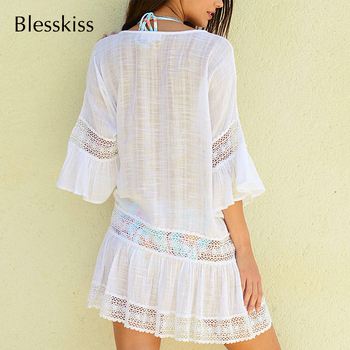 BlessKiss Summer Lace Beach Dress Cover-Up 5