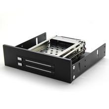 """ในสต็อกSATA HDD Rackมือถือภายใน2อ่าว2.5 """"HDD EnclosureสำหรับCD/DVD-ROMสถานที่ตั้งจัดส่งฟรี"""