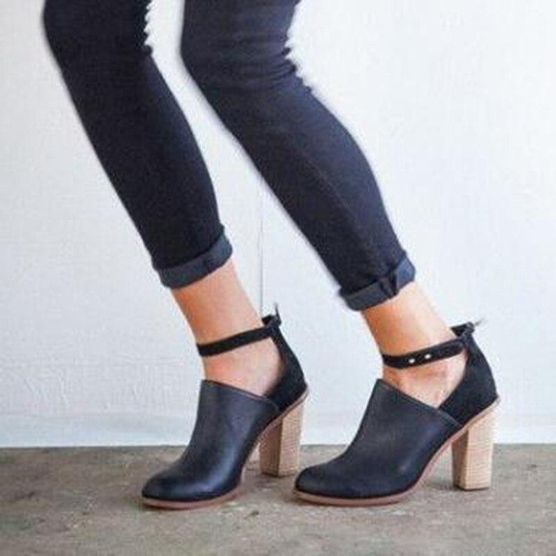 Alto Invierno Negro Tacón 2018 Mujer Otoño Zapatos De Botas x6IvqC6Yw