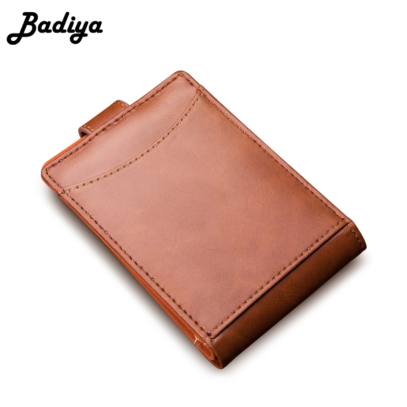 Business Mens Bifold Short Wallet New Slim PU Leather Card Holder Hasp Money Bag Casual Small Wallets Mini Purse