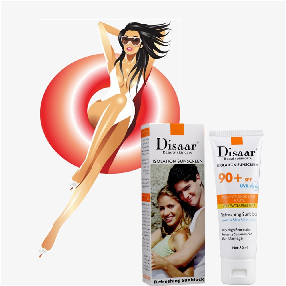 DISAARFoundation Isolation Sunscreen 80ml Pearl Whitening Isolation Sunscreen Perfect Cover Blemish Makeup Cosmetic Foundation