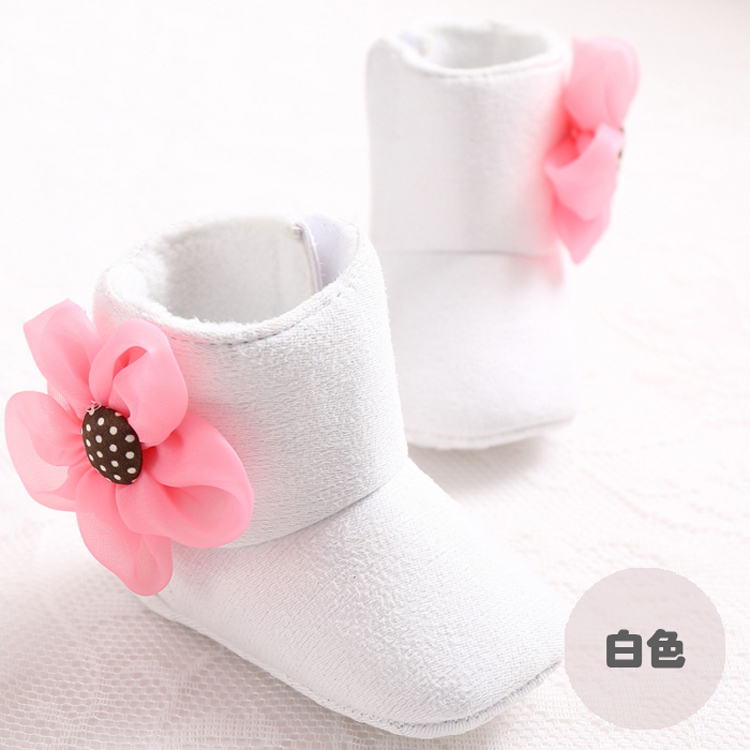 Winter Floral Baby Girls First Walkers Jordan Toddler Shoes Carters Newborn  Infant Bebe Moccasins Infantil Boots Yeezy Boost 350-in First Walkers from  ... 3fe54cc11d51