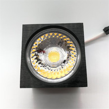 20 pcs/lot LED downlight COB Dimmable 7W 12W 110V 120V 220V Ceiling lamp Surface mounted led light Spot Square cob