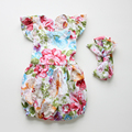 New chegou Bebê Rompers Ruffled Flor conjunto romper Do Bebê Da Menina trajes Definir Filhos Verão 2016 Bonito Do Bebê Romper do bebê recém-nascido roupas