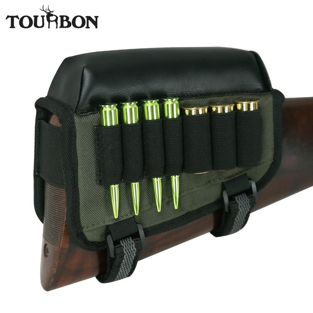 Tourbon Hunting Gun Universal Cheek Rest Riser Pad Buttstock Rifle Shotgun Cartridges Ammo Holder Right Hand Shooting