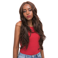 Blonde 613 Ombre Color Lace Front Synthetic Hair Wigs For Black Women X TRESS Long Natural Wave Trendy Lace Wavy Wig Middle Part