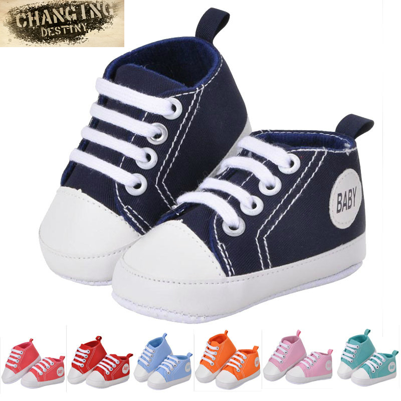 0 18 Month 6 Colors Babies First Walkers Baby s Soft Bottom Shoe Unisex Canvas Shoes