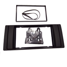 High quality new Double Din Fascia For BMW series 5 E53 E39 Radio CD DVD GPS Stereo Panel Dash Mount Trim Kit Surrounded Frame seicane good double din car radio fascia for 2009 2011 chevrolet cruze stereo dvd player install frame surrounded trim panel kit