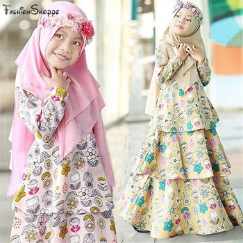 Muslim Kids Abaya, Hijab Girl Islamic Clothing