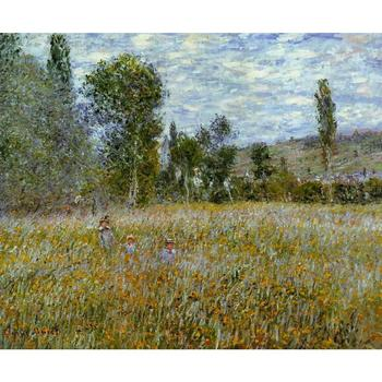 Meadow by Claude Monet Oil paintings reproduction Landscapes art hand-painted home decor