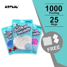 free shipping S 5mm 33 colors(33,000pcs) artkal fused beads for hama perler beads educational SB1000-33